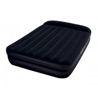 Надувная кровать Bestway Queen флокированная +встроенный насос +сумка (203x152x46см) 67403