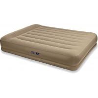 Надувная кровать Intex Pillow Rest Mid-Rise Bed со встроенным эл.насосом (152 cм х 203 см. х 30 см) 67748