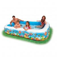 """Надувной бассейн Intex """"Семья"""" с рыбками (305х183х56см) 58485"""