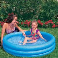 Надувной бассейн синий малый Intex (114х25см) 59416