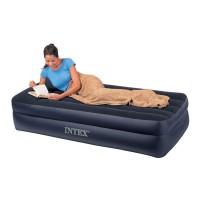 Кровать темная с насосом 220В (99х191х42 см) 66706