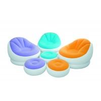 Надувное кресло с пуфиком Intex Cafe Chaise Chair (104x109x71см.) 68572