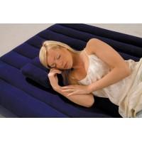 Надувная подушка Intex велюр, синяя (43х28х9 см) 68672