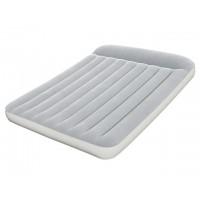 Надувная кровать Bestway флокированная с изголовьем + встроенный насос (203х152х30 см) 67464