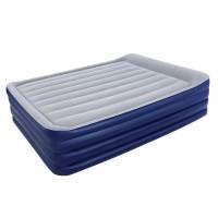 Надувная кроватьBestway флокированная + встроенный эл. насос (203х152х56см) 67528