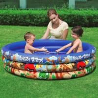 Надувной бассейн Bestway бортик 3 кольца, (152х30см), 282 л, Angry Birds 96108