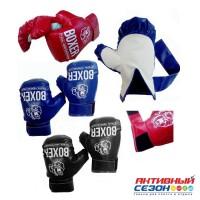 Перчатки для бокса 51536 цвета в ассортименте, материал экокожа(1000984)