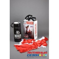 Набор Бокса 18526 груша, перчатки + шорты и накидка боксера, в подарочной упаковке(1000978)