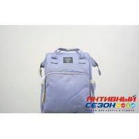 Сумка-рюкзак для мамы LeQueen с USB (сиреневый) (ub 4)