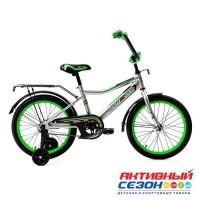 """Детский велосипед Байкал - RE03 18"""" (Л1803) цвет: Серый, Белый, Зеленый, Красный"""