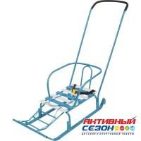 Санки Тимка 5 Юниор Комфорт (с большим колесом) (голубой)