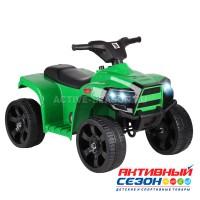Квадроцикл свет, звук (мелодии Шаинского), пластиковые колёса, цвет зеленый