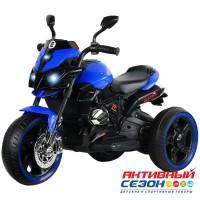 Мотоцикл трехколесный на аккумуляторе с функцией водяного пара, аккум 6V4Ah*1, 1*20W, Цвет синий