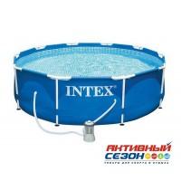 Каркасный бассейн круглый Intex, 305х76см, фильтр-насос картр 1250 л/ч INTEX 28202
