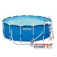 Каркасный бассейн Metal Frame Pool 457х122см + аксессуары INTEX 28242