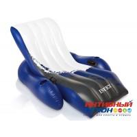 Надувное кресло-шезлонг для плаванья Intex 58868 (180х135 см) с подстаканником и ручкой