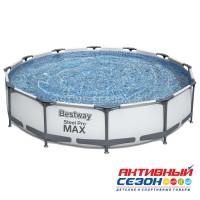 Бассейн каркасный Steel Pro Мах 366 х 76 см (в комплекте: насос с фильтром 220V) 56416