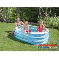 Детский бассейн Яркие Рыбки 163*107*46 см, клапан