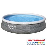 Бассейн надувной Fast Set 396 x 84 см (в комплекте:фильтр-насос, картридж) 57376