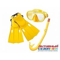 Набор для плавания (маска + трубка +ласты на рем.) от 8 лет