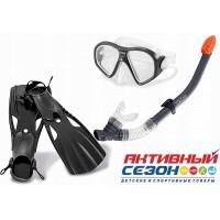 Набор для плавания (маска + трубка + ласты, от 14 лет) 55657