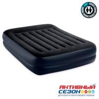 Двуспальная надувная кровать Кровать Deluxe Pillow (152х203х42см) со встр.насосом 220В (64136)