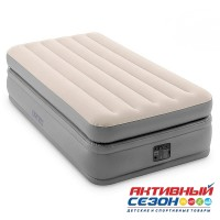 Кровать светлая Intex (99х191х51см) со встроенным насосом 220В (64162)