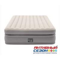 Кровать светлая 152х203х51см со встроенным насосом Intex 220В