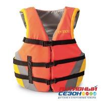 Жилет для плавания с пенопластовыми вставками Intex, от 23 до 41 кг