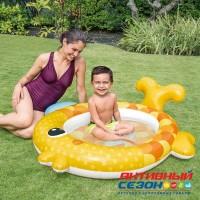 Надувной бассейн для малышей Золотая Рыбка 140*124*10 см