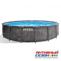 Бассейн каркасный (457х122см)+ насос-фильтр, лестница, тент, подстилка