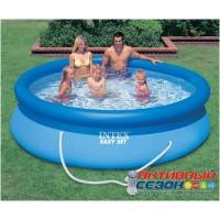 Надувной бассейн Intex Easy Set Pool + фильтр-насос (396x84см) 28142