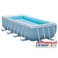 Каркасный бассейн Intex (400x200x100 см) + насос-фильтр, лестница (28316 (26776))