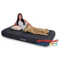 Надувная кровать Intex Pillow Rest Classic Bed Full с насосом 220 В (137x191x23 см) (66780)