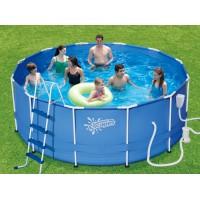 Каркасный бассейн Summer Escapes (396х132см) + фильтр-насос, лестница, настил, тент, набор для чиски DELUXE, скиммер (Р20-1352-В)