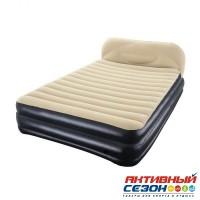 Надувная кровать Best Way Soft-Back Elevated Airbed (Queen) со встроенным эл. насосом (226х152х74см) 67483BW