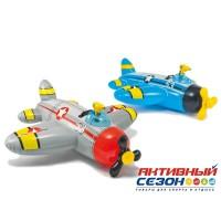 """Надувная игрушка-наездник """"Самолеты"""" Intex (130х130 см) 57537"""