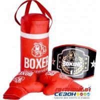 Набор Бокса 21549 груша, перчатки + пояс победителя, в подарочной упаковке