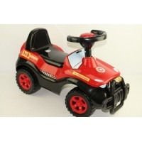 Каталка 105 Машина чёрно-красная для катания детей ОРИОН 1018139