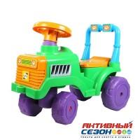 Каталка 931 Трактор зелёный для катания детей