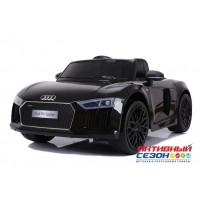 Машинка на аккумуляторе AUDI (черный), 5km/h. 2 скорости,до 30 кг. (JJ2198BL)