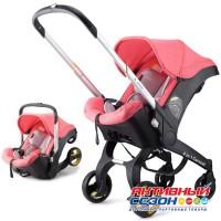 Коляска- Автокресло FooFoo 4в1 (Розовый)