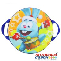 Санки-ледянки «Крош с барабаном», d=35 см, цвета МИКС