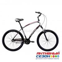 "Велосипед LORAK COMFORT Nexus (26""; скор. 3) (р-р: 19; Цвет:Matt Black/Blue) рама алюминий"