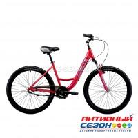 "Велосипед LORAK COMFORT LADY Nexus (26""; скор. 3) (р-р: 17; Цвет: RED/GRAY) рама алюминий"