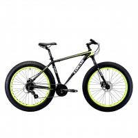"""Велосипед LORAK FAT SE (26"""", скор. 24) (р-р.:21; Цвет: Matt Black/Yellow) рама алюминий"""