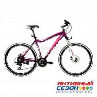 """Велосипед LORAK  GLORY 100 (26""""; скор. 18) (р-р: 17; Цвет: MATT PURPLE/PINK (фиолетово-розовый)) рама алюминий"""