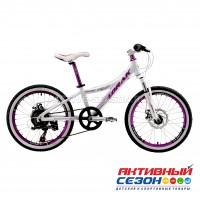 "Велосипед LORAK MAGIC 20 (20""; скор 7.) (Цвет: WHITE/PURPLE (бело-фиолетовый)) рама алюминий"
