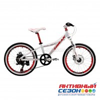 "Велосипед LORAK MAGIC 20 (20""; скор 7.) (Цвет: WHITE/RED (бело-красный)) рама алюминий"