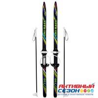 """Лыжи подростковые """"Ski Race"""" унив.крепление """"Цикл"""", с палками стеклопластик (130/100) 332461"""